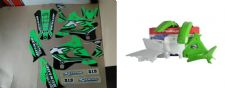 New KX 125 250 94 95 96 97 98 FLU PTS4 Graphics Sticker Plastic Kit Plastics